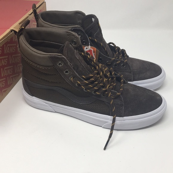fbde4e0320 Vans SK8 hi all Weather MTE Brown Shoes Size 7.5 9